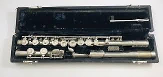 Vintage Selmer Signet Sterling Tube Flute With Case Rare