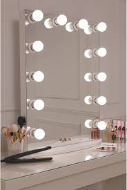mirrored lighting. This Is Our XL Pro Hollywsood Mirror Which Features A Sleek White Design With 12 LED Frosted Light Bulbs- Essential For Ensuring Mirrored Lighting R