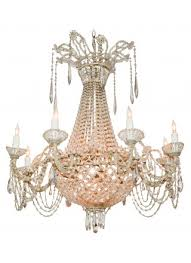 italian beaded crystal basket form chandelier