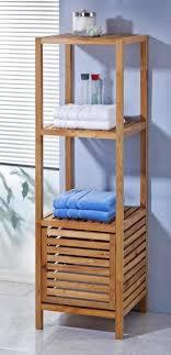 Badezimmerschrank Holz Weiß Schrank Regal