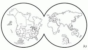 Coloring Pages Blank Map Of The World Coloring Page Free