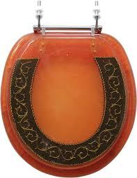 gold toilet seat cover. decorative toilet seat - bronze w/ gold design standard round cover i