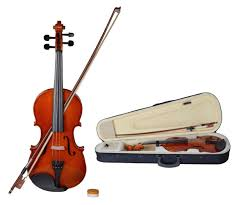 calhome 4 4 full size natural acoustic violin fiddle with case row rosin wood color walmart