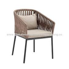 china rope chair outdoor plastic garden chair aluminum patio lounger chair