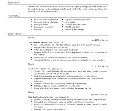 best nanny resumes best nanny resume download sample responsibilities of a for