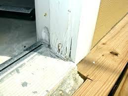 repair rotted door jamb repair rotted garage door frame wood rot replacing jamb seal strike plate repair rotted door jamb
