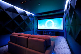 theatre room lighting ideas. Alluring Home Movie Theater Room Design With Red Sofa And Wall Lights Also Big Screen Set Picture Of Classic Theatre Lighting Ideas T