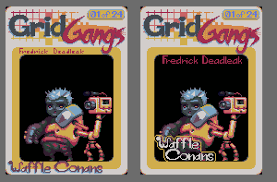 Trading Card Design Grid Gangs Early Ish Card Design Peter Queckenstedts Design Blog
