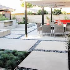 modern concrete patio. Pouring Concrete Pad Patio Midcentury With Mid-Century Energy Star Regard To Mid Century Modern