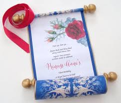Scroll Birthday Invitations Beauty And The Beast Birthday Invitation Scroll Belle Birthday