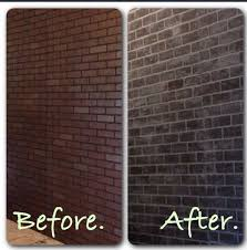 faux brick wall brick paneling from covered with white chalk paint recipe below