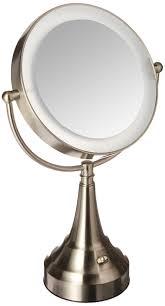 Zadro Next Generation Led Lighted Vanity Mirror Zadro 10x Mag Next Generation Led Cordless Double Sided Round Vanity Mirror 11 Inch Satin Nicke