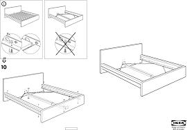 Ikea Instruction Manuals Ikea Beds Malm Bed Frame King Pdf Assembly Instruction Free