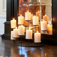 10 candle candelabra black matte for fireplace decorative mantel sei