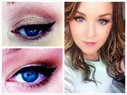 flattering blue eyes makeup tutorial how to make small eyes look bigger you