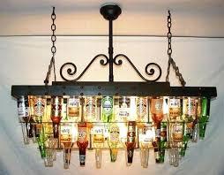 how to make a chandelier out of liquor bottles diy bottle pendant lights full size