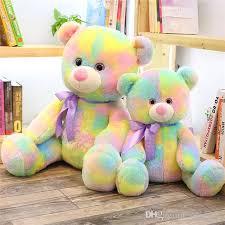2019 Demishop Stuffed Rainbow Bear Toy Cute Toys Creative Boys Girls