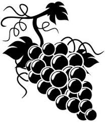 grapes clipart black and white. wine and grapes clip art silhouette clipart black white s