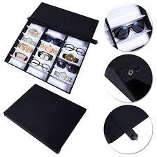 details about 18 grid sunglass eyewear case stand organizer storage tray display box rack