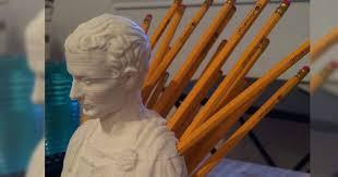 Julius Caesar Pencil Holder Mesmerizing This Julius Caesar Pencil Holder Is Really Quite Brilliant The Poke