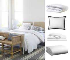 crisp white sheets remind me of my favorite vacations at my favorite hotels fluffy duvets and pressed bedding make a space feel light and pulled together