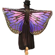 Soft Fabric Butterfly Wings Shawl Fairy Ladies Nymph ... - Amazon.com