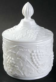 candy jar lid vintage g milk glass by imperial glass ohio