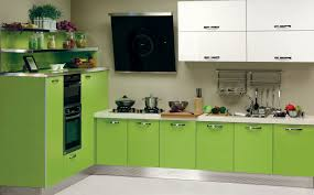 Lime Green Kitchen Walls Best Green Wall Background Of Modern Small Kitchen Design