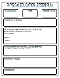 Lesson Plans - Phys.ed.review