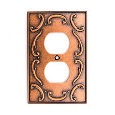 brainerd french lace 1gang sponged copper single duplex wall plate copper light switch plates a86