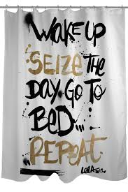 cream and black shower curtain. oliver gal by one bella casa seize the day black gold shower curtain on hautelook cream and