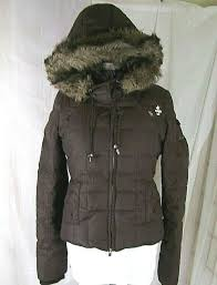 Abercrombie Fitch Brown Puffer Down Heavy Jacket Coat Size
