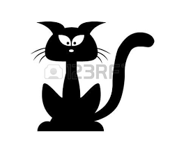 chat dessin halloween chat noir silhouette vecteur cartoon  the black cat essay the black cat symbolism essay