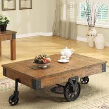 Distressed Wood Country Wagon Coffee Table with Wheels - love this | Neat  Ideas for the Home | Pinterest | Distress wood, Wheels and Coffee