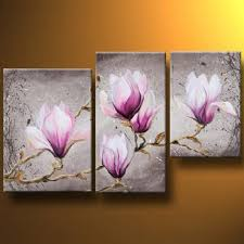 delicate magnolia flower modern canvas art wall decor floral oil painting wall art on magnolia canvas wall art with delicate magnolia flower modern canvas art wall decor floral oil