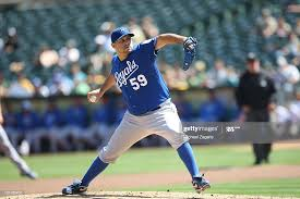 Felipe Paulino of the Kansas City Royals pitches during the game... News  Photo - Getty Images