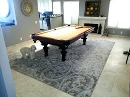 cottage pool table rug size under around for pool table rug large size