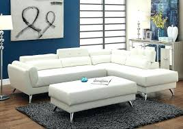 l sectional couch details about sofa corner flip up headrest ottoman white bonded leather with chaise sectional with chaise and ottoman couch