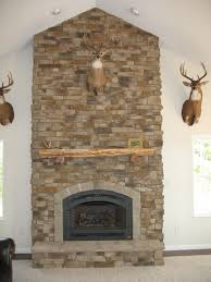 Stone Veneer Fireplace Design U2014 Unique Hardscape Design  Stone Stacked Stone Veneer Fireplace
