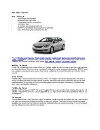 Car Rental Companies In Toronto Canada