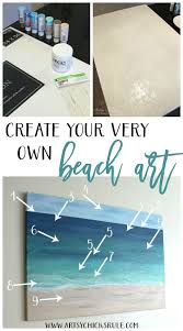 diy beach painting create faux texture for real looks