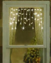 Mini Window Icicle Lights Set Of 50 Clear White Mini Window Curtain Icicle Christmas Lights White Wire