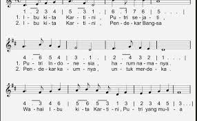Lagu ibu kita kartini berbirama 4/4. Lirik Lagu Ibu Kita Kartini