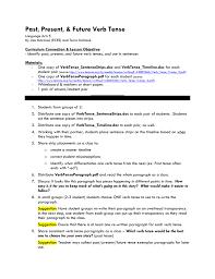 Verb Tense Lesson Outline