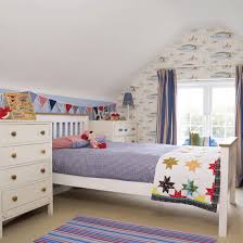 Boys\u0027 Bedroom With White-painted Furniture