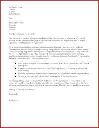 Elegant Administrative Assistant Cover Letter Email Npfg Online