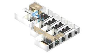 office space plan. 3d-model-to-plan-office-space Office Space Plan P