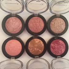 Max Factor Creme Puff Colour Chart Max Factor Creme Puff Blushes Entire Collection Review And