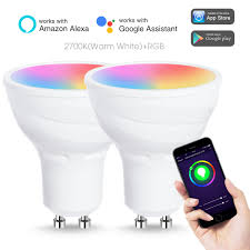 Smart Track Lighting Us 35 14 5 Off Smart Wifi Led Bulb Gu10 5w 50w Equivalent White Ambiance Sport Track Lighting Compatible With Alexa Google Assistant 2pack In Led