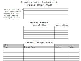 Employee Training Plan Example Vaydileeuforicco 93988580734